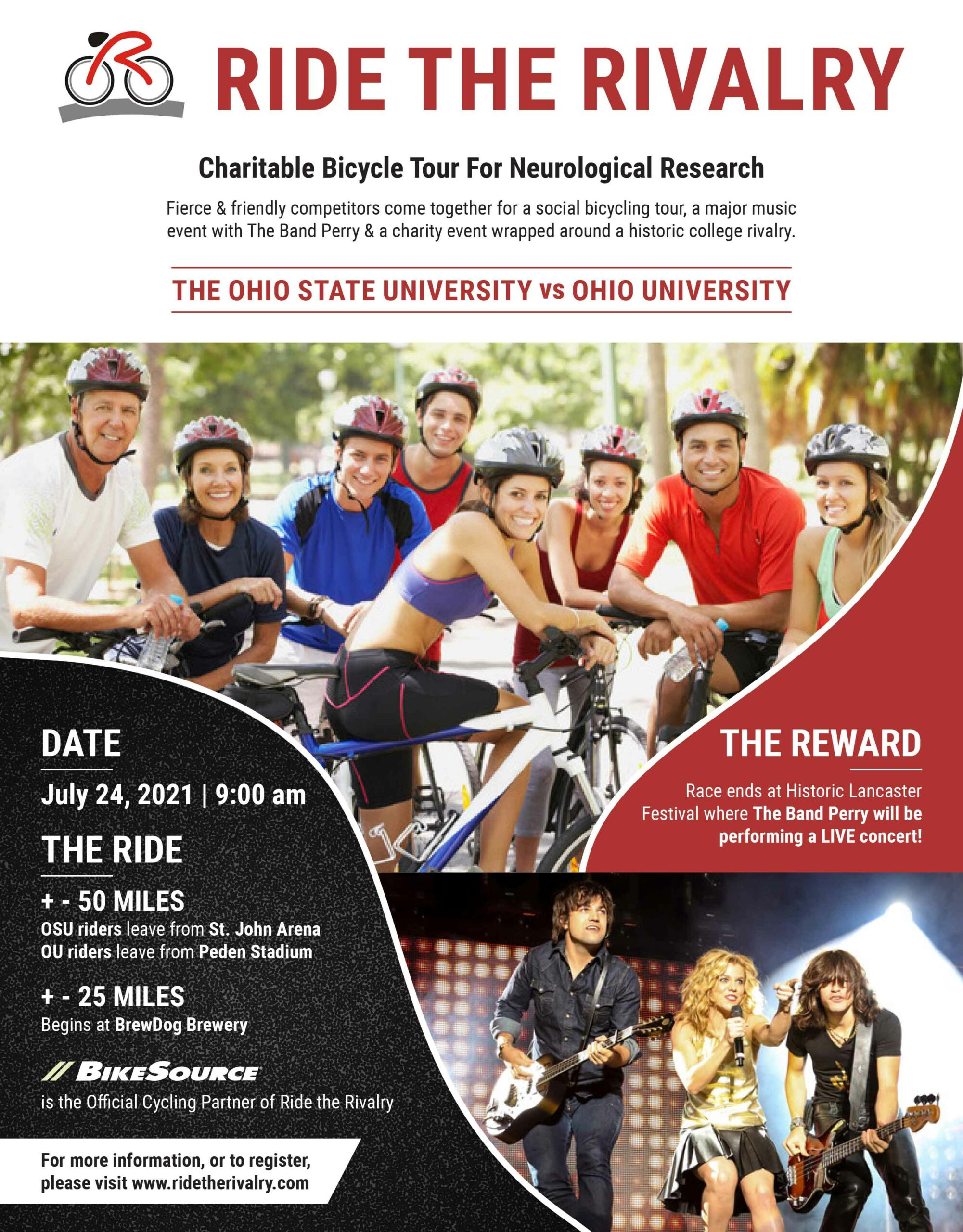 Ride The Rivalry Flyer